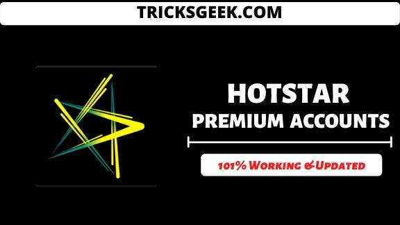 hotstar premium accounts username and password 2020